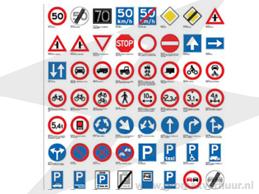 Verkeersbord (excl. paal)