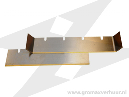 Vervangmes tapijtstripper 250x60x1 mm Vlak