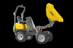 Wieldumper 1 m³ hoogkiepend (Diesel)